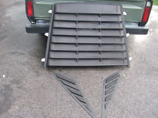 DODGE DAYTONA Z SHELBY NA REAR WINDOW LOUVER KIT VENT 1987 1988 1989