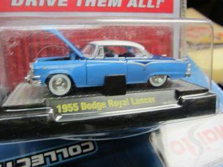 1955 Dodge Royal Lancer in Blue Diecast Super Detailed