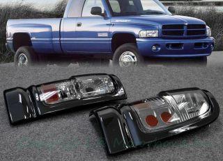 94 01 Dodge RAM 2 4 Door Rear Bumper Tail Light Lamp Smoke Clear