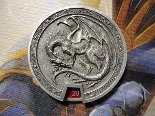The Gathering 1998 Reaper Metal Pro Life Counter Dragon Art x 1