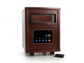 LifeSmart LS 1500 B 1500 Watt Infrared Quartz Heater (NEW) Free