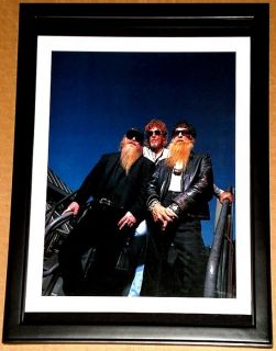 ZZ Top Billy Gibbons Dusty Hill Frank Beard Framed Group Portrait