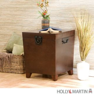 Dorset Trunk END TABLE Mision Oak Storage Chest Top Opens by Holly