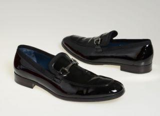 Salvatore Ferragamo Doti Black Patent Leather Formal Tuxedo Shoe 10 5
