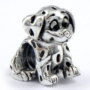 925 Sterling Silver Dalmatian Dog Charms European Bead