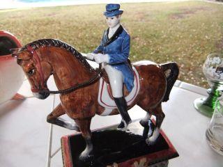 FITZ & FLOYD EQUESTRIAN HORSE & RIDER CLOCK
