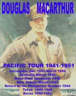 Douglas MacArthur WW2 Pacific concert tshirt