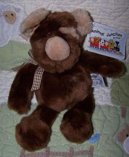 Russ Fluffy Brown Beige Stuffed Animal Puppy Dog Toy Podge 10