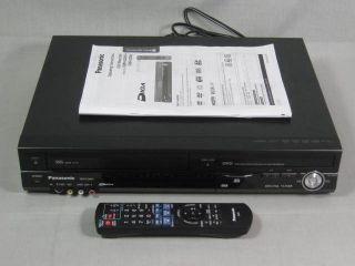 Panasonic DMR EZ485V DVD VHS Combo Recorder Player Tuner Remote Manual