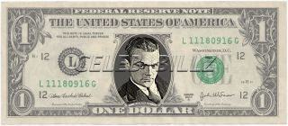 James Cagney Dollar Bill Mint Real $$ Celebrity Novelty Collectible