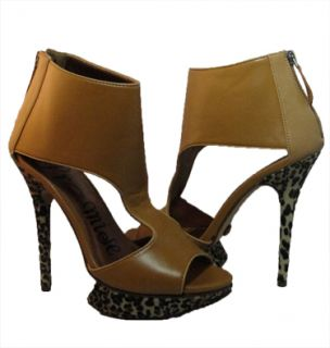 Hot Peeptoe Platform Promiscuos Ankle High Heel Shoes Pump Us Size 7
