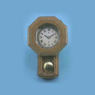 Dollhouse Miniature Decorative Wood Wall Clock IM65420
