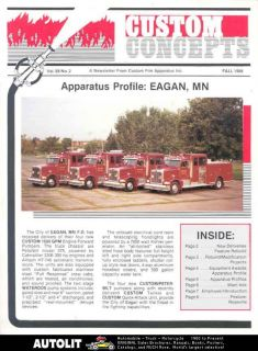 1988 Custom Fire Peterbilt Fire Truck Brochure Eagan
