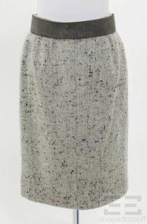 Oscar de La Renta Vintage 2pc Dove Grey Tweed Jacket Skirt Suit