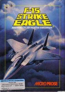 15 Strike Eagle PC Combat Simulation Game Box 5 25