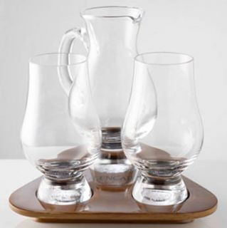 Glencairn Whisky Glass Tasting Set Water Jug and Tray Made in Scotland