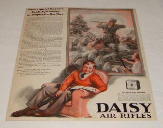 1932 Daisy BB Gun Ad Daniel Boone's Eagle Eye