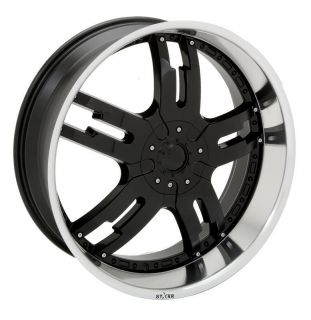 22 inch Rims and Tires Wheels Starr 958 Dominator Black Nissan 20 24