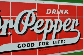 vintage dr pepper red brick cola soda drink porcelain sign rare super