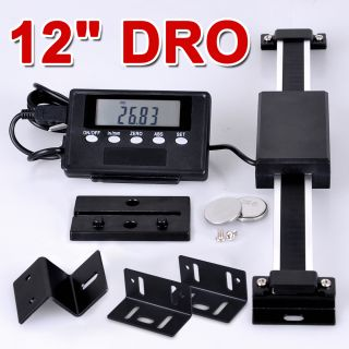 12 Digital Readout DRO Magnetic Remote LCD Bridgeport Mill Lathes