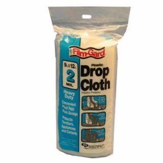 ea 9x12 Heavy Duty 2 Mil Plastic Drop Cloth HS002