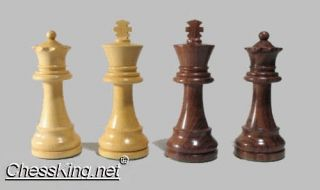 New Drueke Wood Chess Pieces Extra Large Queens Kings Great Tournament