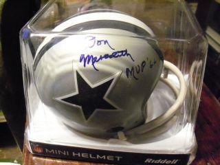 Dallas Cowboys Don Meredith Signed Mini Helmet