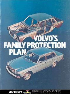 1974 Volvo 142 144 GL 145 164E Safety Features Brochure