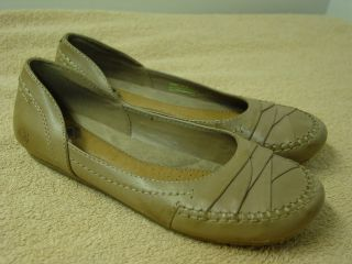 EARTH ORIGINS Light Brown Leather Ballet Flats AMBER Shoes Ladies Size