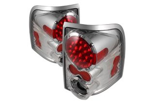 Explorer LED Tail Lights Pair Chrome Truck SUV Rear Brake Stop Light