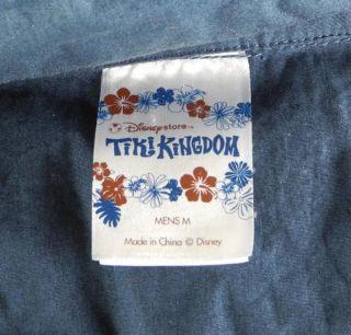 Kingdom Mickey Mouse Minnie Donald Duck Hawaiian Shirt Medium Blue