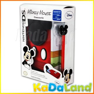 Nintendo 3DS DSi DSL DS Lite Character Kit Disney Mickey Mouse Case