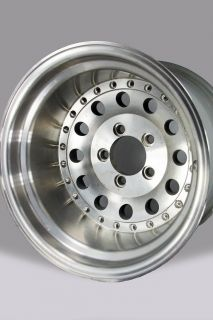 Polished 15x10 American Eagle Alloys Series 055 Wheel   5x4.5 3.5 BS