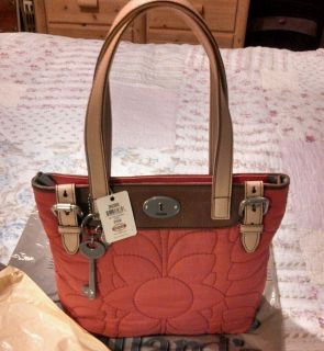 Fossil Key per Quilted Nylon Shopper Tote