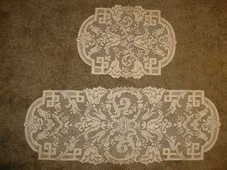 New Gold Lace Empress Design Dresser Scarf Doily Set of 4