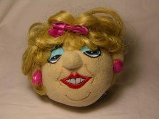 Drew Carey Show Toy Toss The Talking Doll Head Mimi Bobeck Head Works