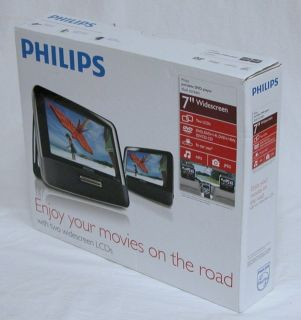 Philips PD7012 7 Dual Screen Portable Car DVD Player