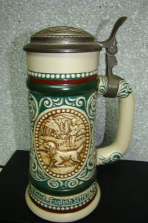 At Point English Setter Hunting Fishing Stein 1978