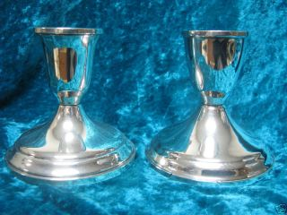 Duchin Creation Sterling Silver Candle Holder Set of 2
