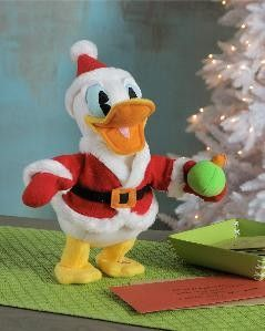 Hallmark Pull My Hat Donald Duck Santa Disney Plush Toy NEW