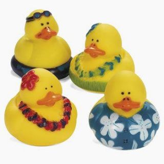 12 Luau Rubber Ducks Dozen Ducky Birthday Party Favors