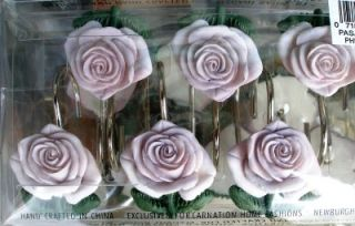 THIS IS A SET OF 12 BEAUTIFUL LAVENDER PASADENA ROSE THEMED SHOWER