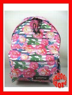 Eastpak Padded Backpack Florid Stripes Pink Rose School Bag