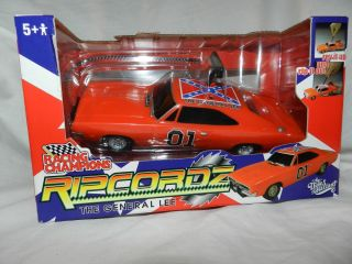 Dukes of Hazzard General Lee 1969 Dodge Charger Rip Cord Model Toy Car