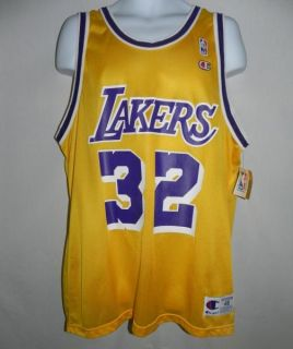 Vtg 90s Nwt Earvin Magic Johnson LA Los Angeles Lakers Champion Jersey