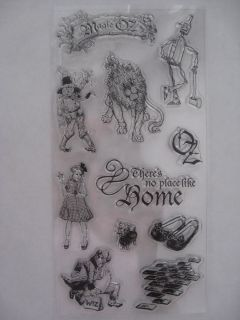 RUBBER STAMP SET WIZARD OF OZ Dorothy Toto Tin Man Lion Scarecrow