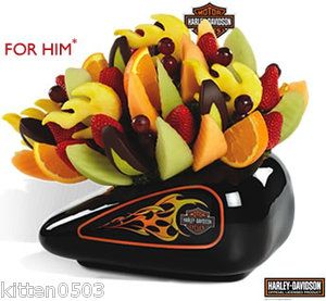 Harley Davidson Edible Arrangements Container Fruit / Flowers Plants