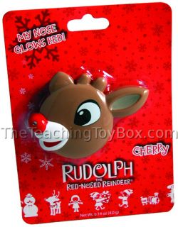 Rudolph Red Nosed Reindeer Lip Balm Nose Lights Up
