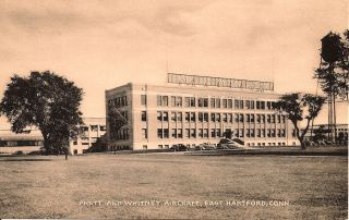 Early East Hartford Ct Postcard The Pratt Whitney Plant Some Years Ago