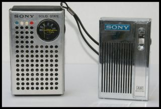 ViNTAGE SONY TRANSISTOR POCKET RADIOs TR 4100 & 2R 3 RARe MADE JAPAN